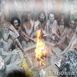 Aghoris performing Puja